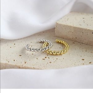 18k Gold Plated Sterling Silver Beaded Ring